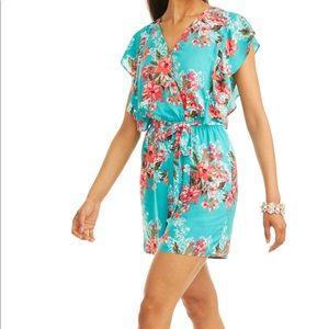 9e8f5411b28d Time and Tru Pants - ✨NWT floral flutter romper Tiffany blue